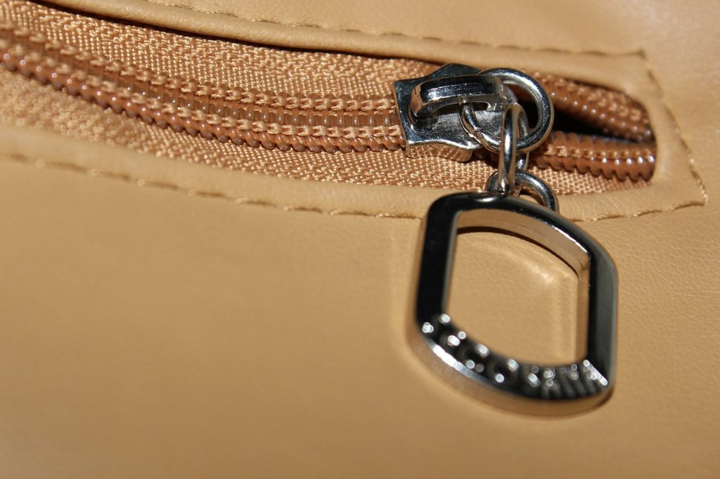 cerniera tasca borsa