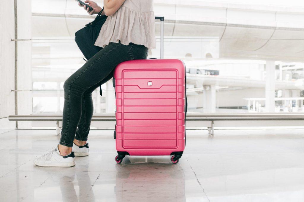 Valigia rosa