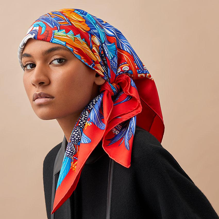 foulard Hermès in testa